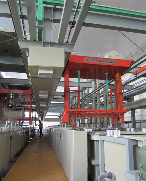Fully automatic barrel plating production line